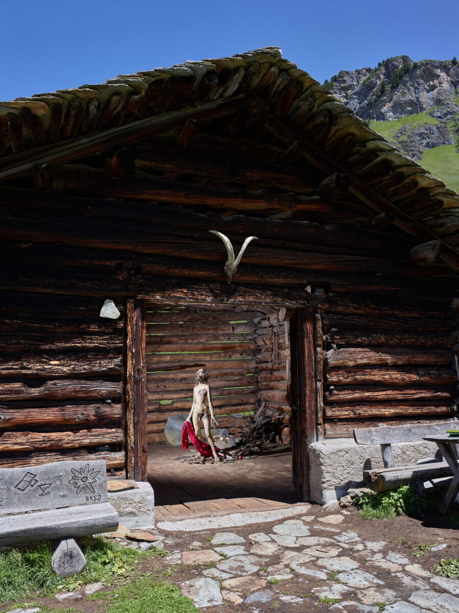 Pawel Althamer Franciszek View of the installation in 17th century mountain hut, Val Fex, Beatrice Trussardi Foundation